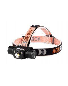 ACEBEAM - Lampada frontale impermeabile 4000 lumen batteria 5100 mAh inclusa H30