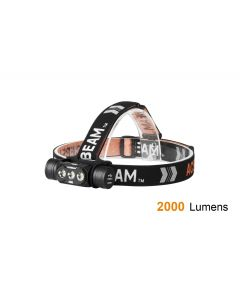 ACEBEAM - Lampada frontale impermeabile 2000 lumen batteria 18650 inclusa H50