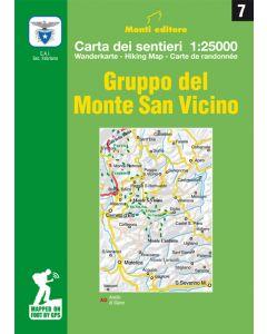 MONTI EDITORE - Cartina 1:25000 Monte san Vicino