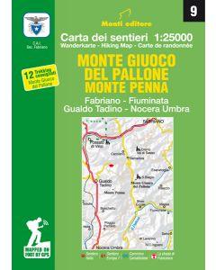 MONTI EDITORE - Cartina 1:25000 Monte Giuoco del pallone Monte Penna