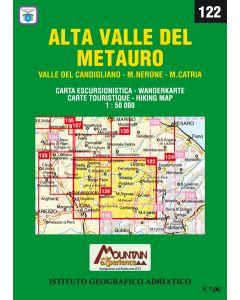 MONTI EDITORE - Cartina 1:50000 Alta valle del Metauro