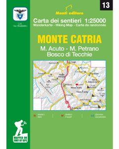 MONTI EDITORE - Cartina 1:25000 Monte Catria
