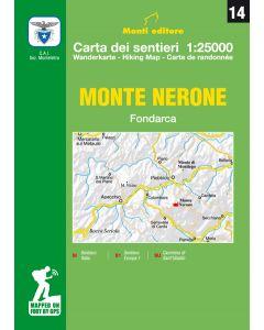 MONTI EDITORE - Cartina sentieri 1:25000 Monte Nerone
