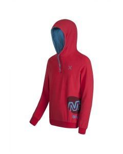 MONTURA - Felpa con cappuccio in cotone M+ Hoody - Rosso