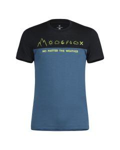 MONTURA - T-Shirt in lana Merino uomo manica corta No Matter Woll - Blu cenere