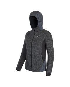 MONTURA - Maglia donna in lana full zip Genziana Hoody - Grigio