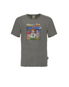 E9 - T-Shirt uomo in cotone M Strong Hero - Grigio