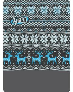 4FUN - Scalda collo scarf 8 in 1 in Polartec e Micro fibra - colore Deer Blue