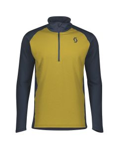 SCOTT - Maglia uomo mezza zip Pullover Defined Light - Senape