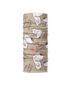 4FUN - Scalda collo scarf 8 in 1 in micro fibra Standard per bambini - colore Puppy Beige