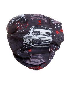 4FUN - Scalda collo scarf 8 in 1 in micro fibra Standard per bambini - colore Car