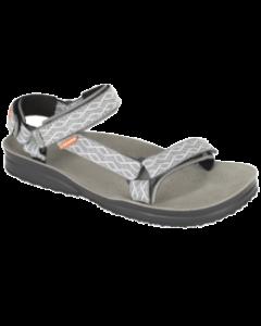 LIZARD - Sandalo plantare in pelle suola Vibram Super Hike - Etno Ash Grey
