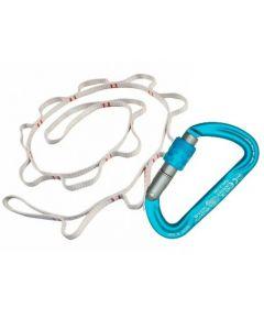 KONG - Set Fettuccia con asole Chain Dyneema 120 cm e moschettone Argon