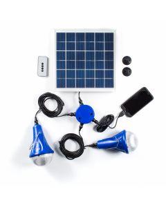 AS TECHNOLOGY - Pannello solare con lampadine ricaricabili Titan Light Home Elite