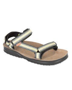 LIZARD - Sandalo plantare in pelle suola Vibram Super Hike - Giallo