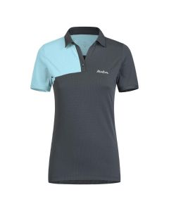 MONTURA - T-shirt donna polo collo V Delta Polo - Grigio