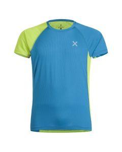 MONTURA - T-Shirt uomo manica corta giro collo World Mix - Blu
