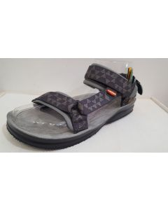 LIZARD - Sandalo plantare in pelle suola Vibram Super Hike - Tris Grey - Tg. 46
