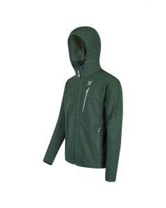 MONTURA - Felpa con capuccio full zip Upward Hoody - Verde