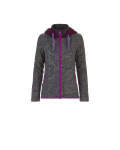 E9 - Maglia donna con zip e cappuccio Rosita - Grigio