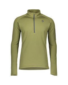 SCOTT - Maglia uomo mezza zip Pullover Defined Light Verde Tg . M
