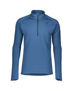SCOTT - Maglia uomo mezza zip Pullover Defined Light Blu
