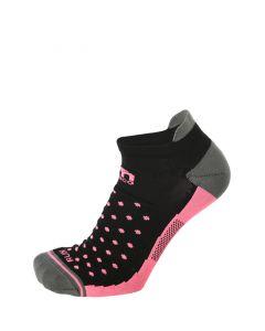 MICO - Calza per donna per la corsa basso Extralight - Nero Rosa