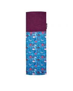 4FUN - Scalda collo scarf 8 in 1 in Polartec e Micro fibra per bambini - colore Paradise Blue