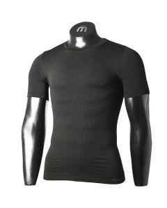 MICO - Maglia uomo girocollo 4 stagioni Extra Dry Skintech Underwear - Nero