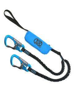 KONG - Longe da ferrata con dissipatore strappo fettucce con elastico Medale