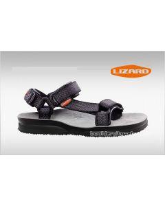 LIZARD - Sandalo plantare in pelle suola Vibram Super Hike - Smoke - Tg. 45