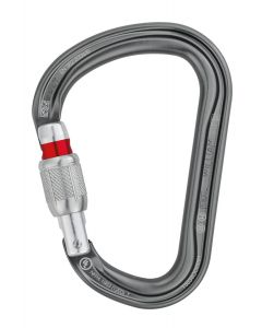 PETZL - Moschettone super base larga ghiera vite Williams Screw Lock