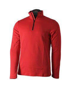 MICO - Maglia uomo mezza zip Quantum Mid Layer Outer Wear - Rosso