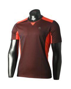 MICO - T-Shirt uomo girocollo trekking e corsa Drynet - Rosso