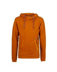 E9 - Felpa uomo con cappuccio in cotone pesante Neon2 - Arancio
