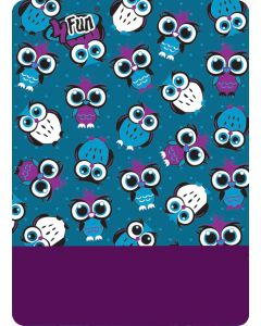 4FUN - Scalda collo scarf 8 in 1 in Polartec e Micro fibra per bambini - colore Owl Blue Kid