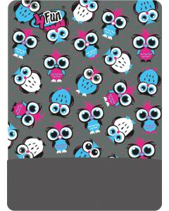 4FUN - Scalda collo scarf 8 in 1 in Polartec e Micro fibra per bambini - colore Owl Grey Kid