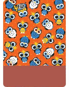 4FUN - Scalda collo scarf 8 in 1 in Polartec e Micro fibra per bambini - colore Owl Orange