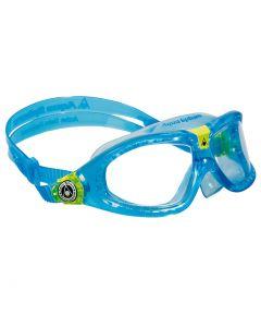 AQUA SPHERE - Occhialini per bambino per nuoto Seal Kid 2 - Azzurro lente trasparente