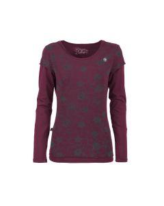E9 - T-Shirt per donna in cotone manica lunga Sofi - Viola