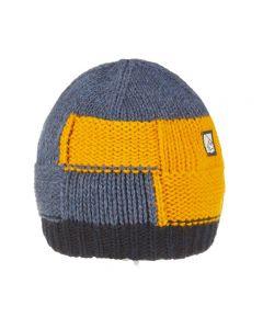 E9 - Cappello maglia grosso Squarhead - Giallo
