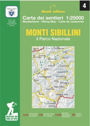 MONTI EDITORE - Cartina dei sentieri 1:25000 Monti Sibillini il Parco Nazionale