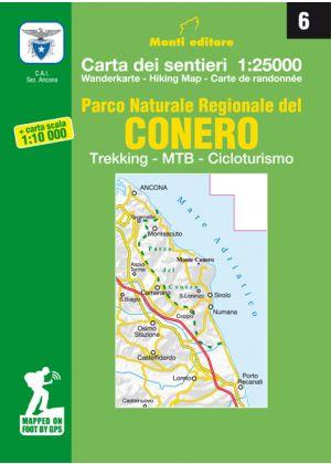 MONTI EDITORE - Cartina 1:25000 Conero