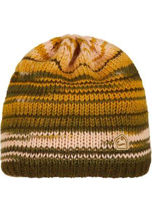 E9 - Cappello lana maglia grosso interno pile Etno - Verde