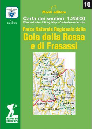 MONTI EDITORE - Cartina 1:25000 Gola della Rossa e di Frasassi