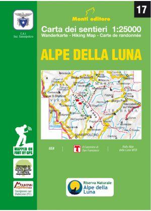 MONTI EDITORE - Cartina 1:25000 Alpe della Luna
