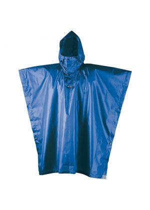 CAMP - Poncho quadrato con automatici Rain Stop - Blu
