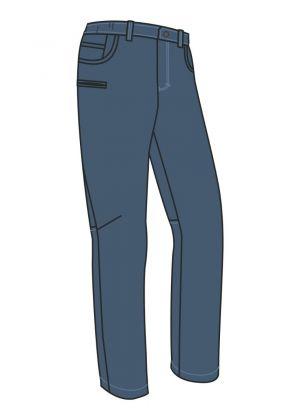 MONTURA - Pantalone uomo pesante velluto in cotone Wien - Blu Cenere