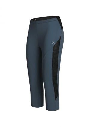 MONTURA - Pantalone donna leggero Wonder 3/4 - Blu cenere