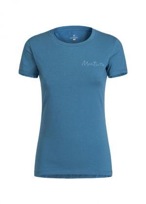 MONTURA - T-Shirt donna manica corta girocollo in cotone Illusion - blu